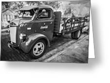 1947 Ford Coca Cola C.o.e. Delivery Truck Bw Greeting Card