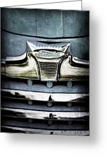 1947 Ford Deluxe Grille Emblem Greeting Card