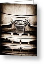 1947 Ford Deluxe Grille Grille Emblem Greeting Card