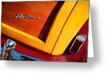 1947 Ford Super Deluxe Sportsman Convertible Taillight Emblem Greeting Card