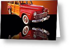 1947 Ford Woody Greeting Card by Jim Carrell