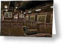 1947 Pullman Railroad Car Interior Seating Greeting Card