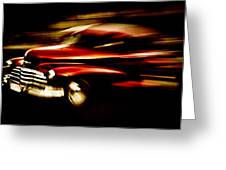 1947 Red Chevrolet Greeting Card by Phil 'motography' Clark