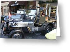 1947 Us Army Jeep Side View Greeting Card