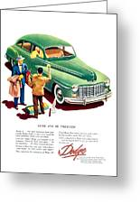 1948 - Dodge Automobile Advertisement - Color Greeting Card