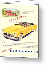 1948 - Oldsmobile Convertible Automobile Advertisement - Color Greeting Card