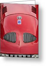 1948 Alfa Romeo Nardi Danese Convertible Greeting Card