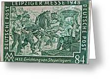 1948 Allied Occupation German Stamp Greeting Card