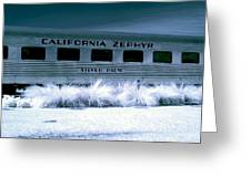 1948 California Zephyr Silver Palm Near Infrared Blue Greeting Card