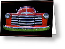 1948 Chevy Pickup W/badge Greeting Card