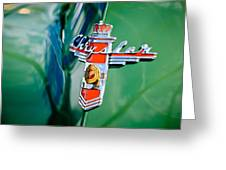 1948 Chrysler Town And Country Convertible Emblem -0974c Greeting Card