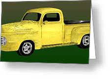 1948 Custom Ford Pick Up Greeting Card