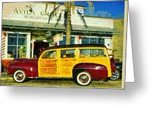 1948 Ford Woody Station Wagon Greeting Card