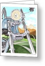 1948 Harley Davidson W L A Greeting Card