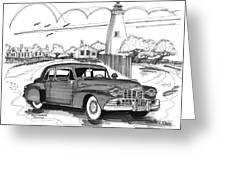 1948 Lincoln Continental Greeting Card