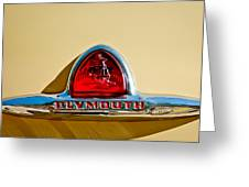 1948 Plymouth Deluxe Emblem Greeting Card