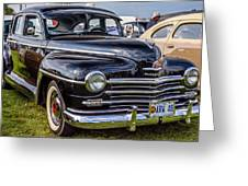 1948 Plymouth Special Deluxe Coupe  Greeting Card