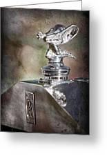 1948 Rolls-royce Hood Ornament - Emblem Greeting Card
