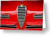 1949 Alfa Romeo 6c 2500 Ss Pininfarina Cabriolet Grille Greeting Card