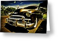 1949 Chevrolet Deluxe Coupe Greeting Card by motography aka Phil Clark