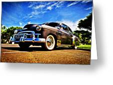 1949 Chevrolet Deluxe Greeting Card by motography aka Phil Clark
