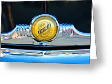 1949 Chrysler Windsor Grille Emblem Greeting Card