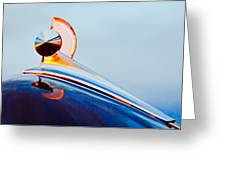 1949 Ford Hood Ornament 2 Greeting Card
