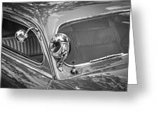 1949 Mercury Club Coupe Bw   Greeting Card