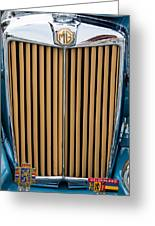 1949 Mg Tc Grill And Name Badge Greeting Card