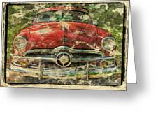1949 Red Ford Coupe Greeting Card