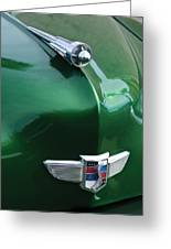 1949 Studebaker Champion Hood Ornament Greeting Card by Jill Reger