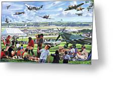 1950 Airshow Greeting Card
