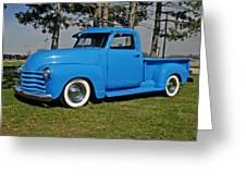1950 Baby Blue Chevrolet Pu Greeting Card