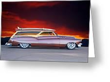 1950 Buick Woody Wagon X Greeting Card