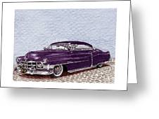 Chopped 1950 Cadillac Coupe De Ville Greeting Card