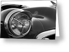 1950 Chevrolet Deluxe Headlight Greeting Card