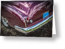 1950 Chevrolet Tailights And Bumper Greeting Card