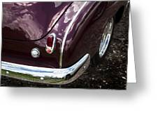 1950 Chevrolet Taillight And Bumper Greeting Card