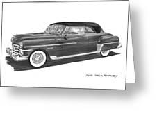 1950 Chrysler Newport Greeting Card