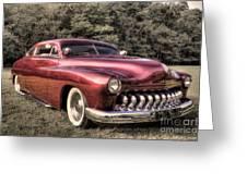 1950 Custom Mercury Subdued Color Greeting Card