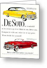 1950 - De Soto Sportsman Convertible - Advertisement - Color Greeting Card