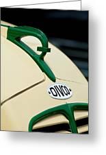 1950 Divco Milk Truck Hood Ornament Greeting Card