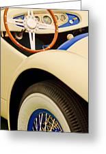 1950 Eddie Rochester Anderson Emil Diedt Roadster Steering Wheel Greeting Card