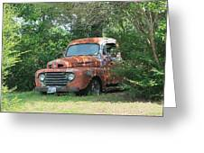 1950 Ford F100 Greeting Card