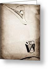 1950 Ford Hood Ornament - Emblem Greeting Card