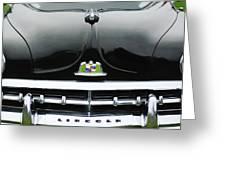 1950 Lincoln Cosmopolitan Henney Limousine Grille Emblem - Hood Ornament Greeting Card