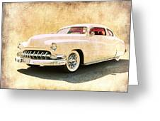 1950 Mercury Grunge Greeting Card