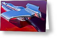 1950 Nash Hood Ornament Greeting Card