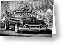 1950 Oldsmobile 88 -105bw Greeting Card