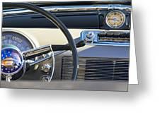 1950 Oldsmobile Rocket 88 Steering Wheel 3 Greeting Card by Jill Reger